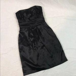 David's Bridal black strapless sheath dress ~ X
